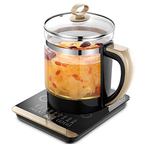 QWER Hervidor eléctrico, Olla de Salud Multifuncional Olla Decorativa Olla de Salud de Vidrio Mini Cocina de té Hervidor eléctrico para hervir Agua Olla de Aislamiento Inteligente