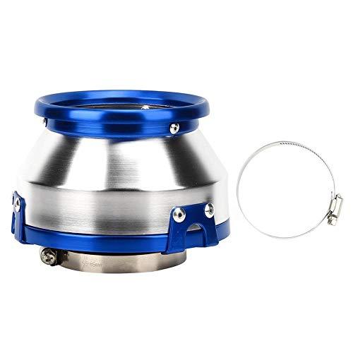 Conkergo 76mm / 3in Filtro De Aire Modificado Motor De Automóvil Motor De Aire Frío Aire De La Ingesta Cabeza De Hongos Parte Universal (Azul)