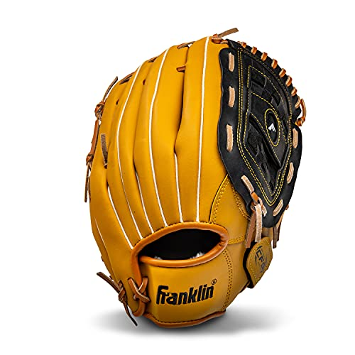 Franklin Sports Baseball and Softball Glove - Field Master - Baseball and Softball Mitt , 12.5' - Basket Web , Tan