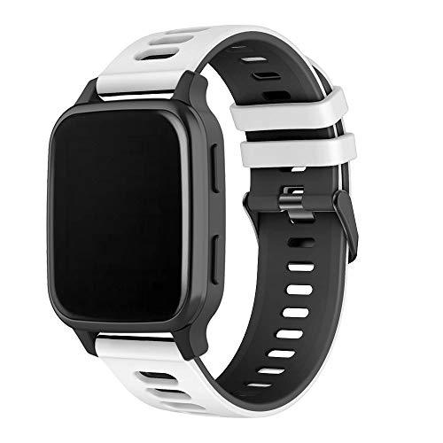 Correa de silicona de repuesto suave para reloj deportivo compatible con Garmin Venu Sq, correa de reloj resistente al agua para reloj inteligente de 20 mm