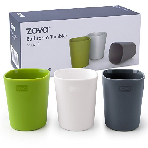 zova Bathroom Tumbler 340ml, 3 pieces