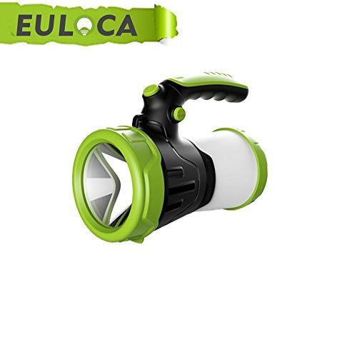 EULOCAlinterna de camping recargable LED Regarcable con 3 Modos, Impermeable...
