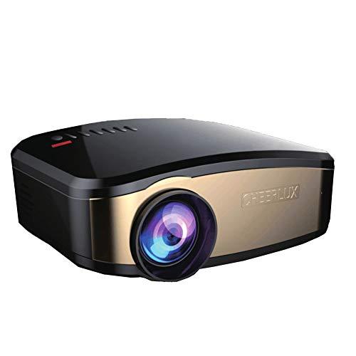 WANGLX ST YGC6 WiFi beamer video projector HD thuis bioscoop beamer ondersteuning 1080p HDMI, VGA, USB voor entertainment party-spel, zwart