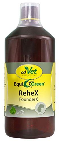 cdVet EquiGreen Anti Rehe Futter Ergänzungsmittel ReheX 1000 ml für Pferde und Ponys zur Unterstützung bei Hufproblemen, Leber und Niere
