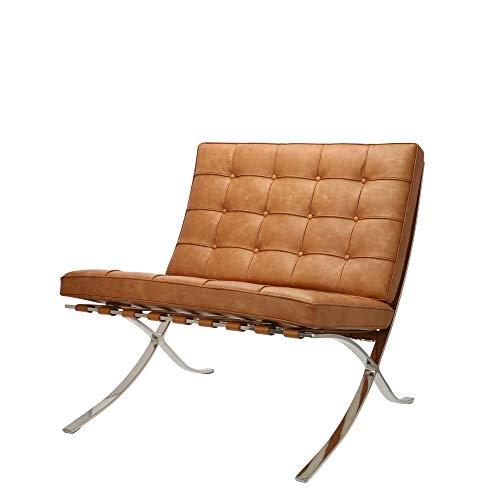 Popfurniture Barcelona stoel gemaakt van echt leer premium relaxfauteuils, ligstoelen, Cocktail- en clubstoelen | Ideale Barcelona fauteuil, Barcelona Chair replica, BarcelonaStoel, Barcelona bank