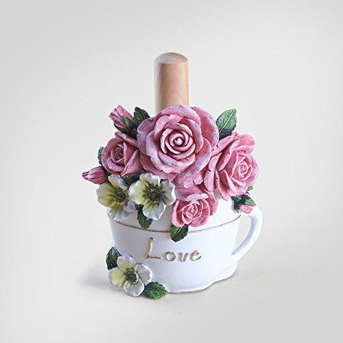 BOBE Shop- Style de Style coréen Papier à Papier Serviette de Papier Grand Rouleau Siège de Serviette en Papier Porte-Serviettes en Papier créatif Papier Libre Vertical (Couleur : Rose)