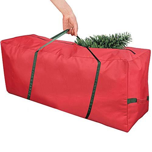 BUZIFU Christmas Tree Storage Bag, Fits Up to 8ft Tall Tree, Extra Large Christmas Tree Bag Heavy Duty Tree Storage Bin Tear Proof 600D Oxford Xmas Bag Organiser Zippered Bag with Carry Handles