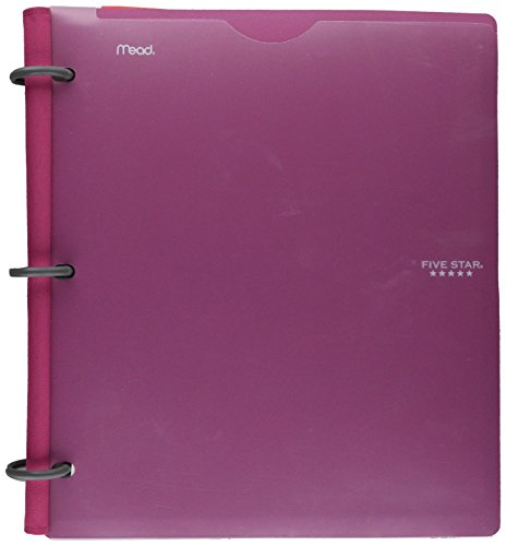 Five Star Flex Hybrid NoteBinder, 1 Inch Binder with Tabs, Notebook and 3 Ring Binder All-in-One, Assorted Colors, Color Selected For You, 1 Count (29176)