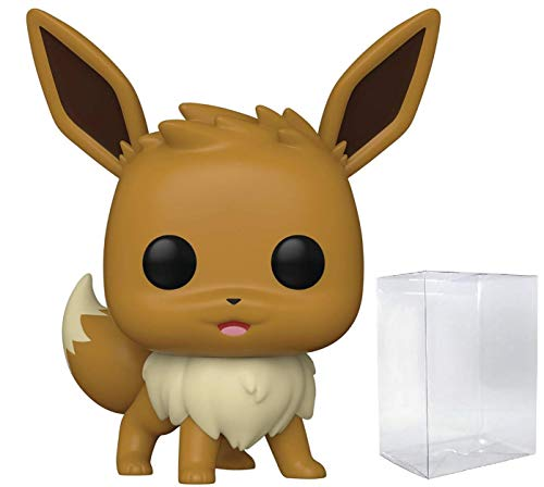 Funko Pop! Games: Pokemon - Figura de vinilo de Eevee (relleno con funda protectora de caja)