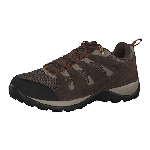 Columbia REDMOND V2, Scarpe da hiking impermeabili, Uomo, Marrone/Grigio (Mud, Dark Adobe), 40.5 EU