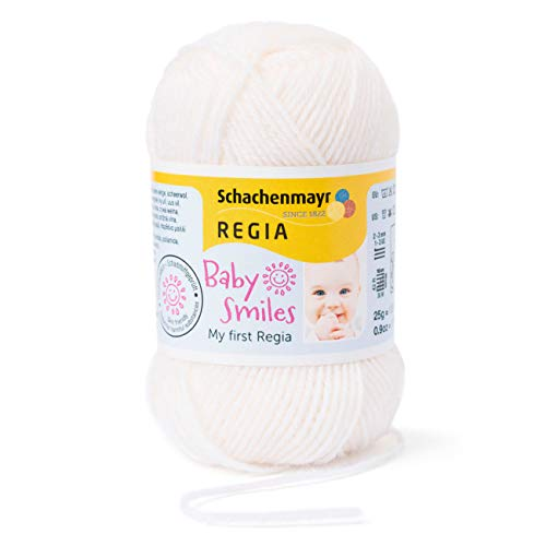 Schachenmayr REGIA Handstrickgarne Schachenmayr Baby Smiles My First Regia Wolle, 25g Natur