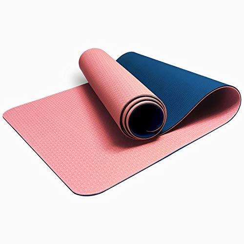 8bayfa Anti-Rutsch-Yoga-Matten-Anfänger-weiblicher und männlicher verdickte Verbreiterte and Extended Haushalt Umweltfreundliche Tasteless Fitnessmatte Bodenmatte.1223 (Color : Pink, Size : 8mm)