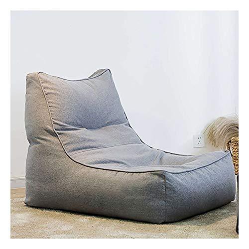 Lazy katoen zitzak Sofa Cover Geen Vullen In Heldere kleuren Lounger Seat Poef Puff Couch for Home Office Game Party (Color : Dark Grey)