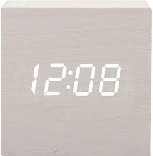 Xyfgz Students Wooden Bedside Alarm Clock Luminous Silent Alarm Clock Wood,Shiraki Music Section