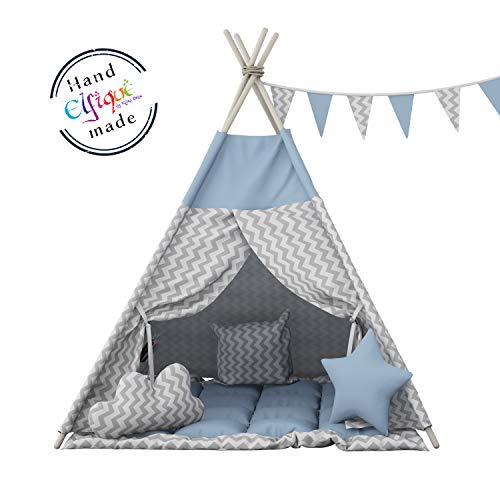 Elfique Tente de jeu Tipi pour les enfants avec couverture double rembourrée de Klara Brist.