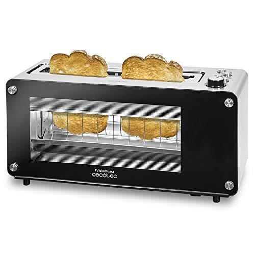 Cecotec VisionToast Toaster. Glasfenster, XL Schlitz, 7 Toaststufen, 3 Funktionen, 7 Möglichkeiten, 2 Toasts und 1260 W.