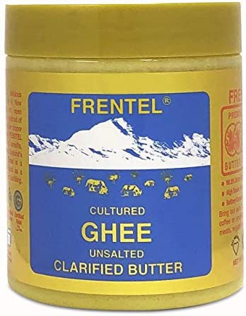 Ghee Cultured Unsalted Clarified Butter by Frentel Grass Fed Cow 8 4 OZ Keto Pasture Raised product image