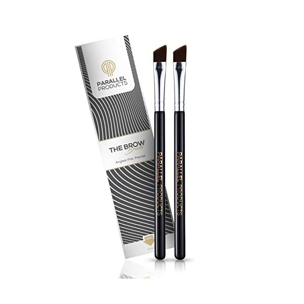 PARALLEL PRODUCTS – THE BROW Brush – (2 Pack) Premium Angled Eyebrow Brush for...