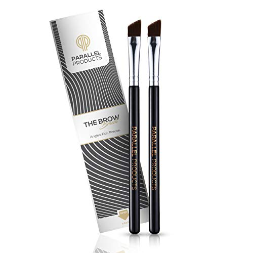 PARALLEL PRODUCTS – THE BROW Brush – (2 Pack) Premium Angled Eyebrow Brush for powder, cream, gel and wax