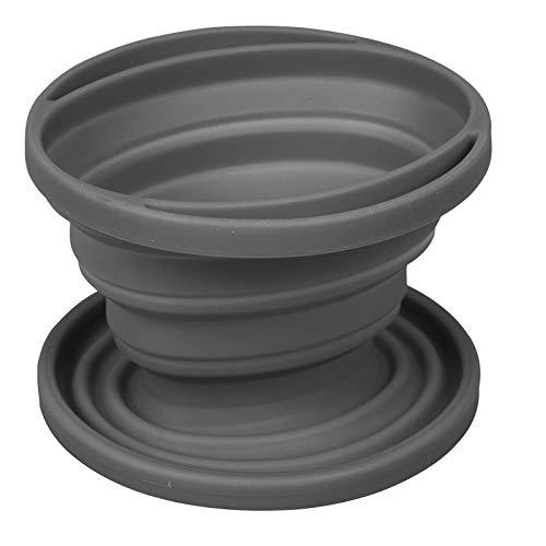 H-Bocamp Kaffeefilterhalter aus Silikon, hitzebestöndig, ø 11,5cm, grau: Kaffeefilter Halter Camping Handfilter Faltbar Filteraufsatz Dauerfilter