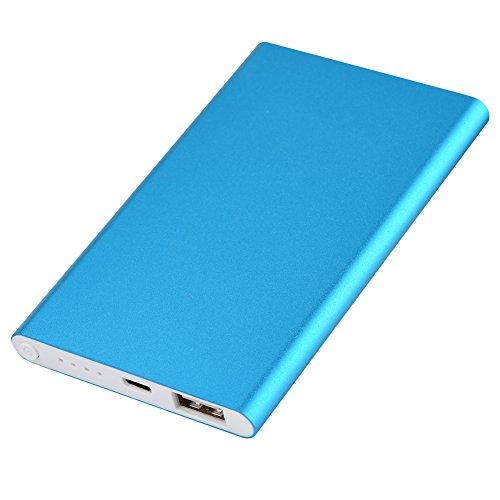 ASHATA 4000mAh Portable 606090 batterijvermogen Bank Shell DIY Fall Box Kit, ingebouwde PCBA-Platine, Ultradun voor mobiele telefoon (batterijen zijn niet inbegrepen), blauw