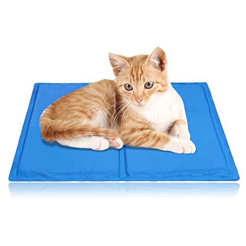 Hengda Alfombra Refrescante para Mascotas Grandes Perro Gato Autoenfriamiento, Alfombrilla de refrigeración Animales, No Tóxico Mascotas y Gatos en Verano, para Camas de Suelo Couch Auto 40*50cm