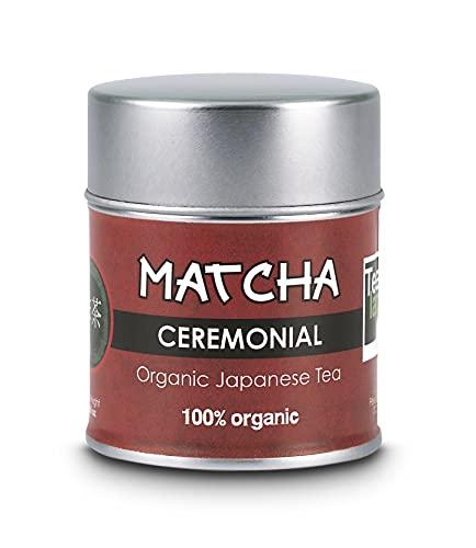 Te Matcha Ceremonial | Lata 30 g | 100% Polvo Puro Japones | Te Matcha Organico Certificado | Te Verde Matcha de Grado Superior, Premium | Matcha Slim Tea, Detox | Color intenso, Aroma natural