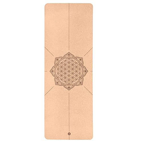 Yogamatte Kork (Blume des Lebens)