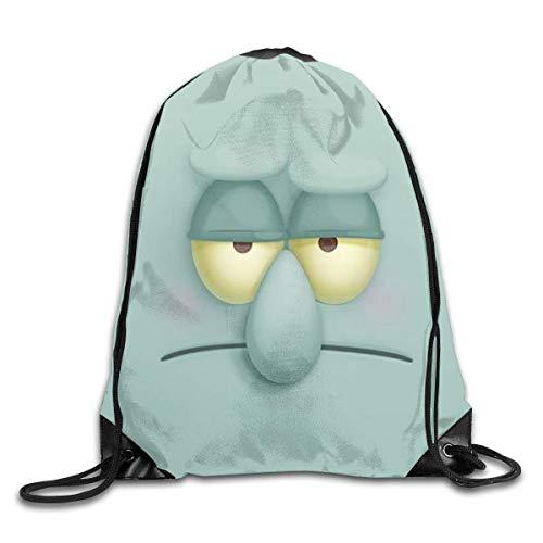 Holuday Unisex Squ-idward-Tentacles Sports Drawstring Backpack Gym Bag