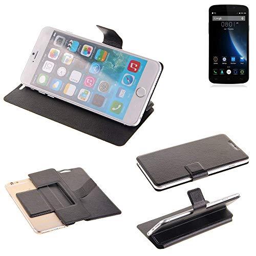K-S-Trade® Handy Schutz Hülle Für Doogee X6S Flip Cover Handy Wallet Case Slim Bookstyle Schwarz