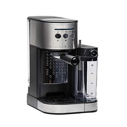 Molino Espressomaschine mit Siebträger, Kaffeemaschine mit integriertem Milchaufschäumer, Stößel und Messlöffel, Einfache Bedienung