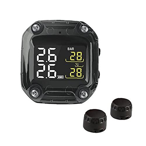 Sistema de detección de Calibre de presión de neumático de Motocicleta Pantalla LCD Digital inalámbrica portátil TPMS