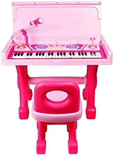 LIUFS-Tastatur Kinder Klavier Schreibtisch Multi-Funktions-Tastatur Anf er Toy Girl 3-6 Jahre Alt (Farbe   Rosa)