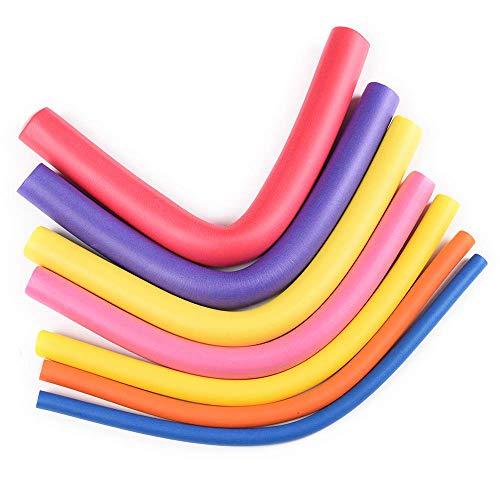 10pcs 9.5' Flexible Curling Rods, Soft Foam Hair Rollers for Long,Medium and Short Hair, No Heat Hair Curlers (Diameter 1.8cm)