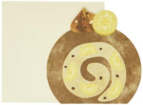 [メッセージカード 封筒セット ×3セット]チョコロールケーキ