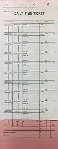 A Plus Mechanic's Daily Time Ticket AP-1508T-AB, 250 Quantity (V8)