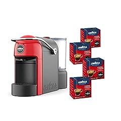 Idea Regalo - Lavazza A Modo Mio, Macchina Caffé Espresso Jolie Con 64 Capsule Crema e Gusto Incluse, Macchinetta A Capsule Per Un Caffè A Casa Come Al Bar, 1250 W, 0.6 Litri, Colore Rosso