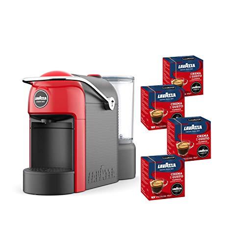 Lavazza A Modo Mio, Macchina Caffé Espresso Jolie Con 64 Capsule Crema e Gusto Incluse, Macchinetta A Capsule Per Un Caffè A Casa Come Al Bar, 1250 W, 0.6 Litri, Colore Rosso