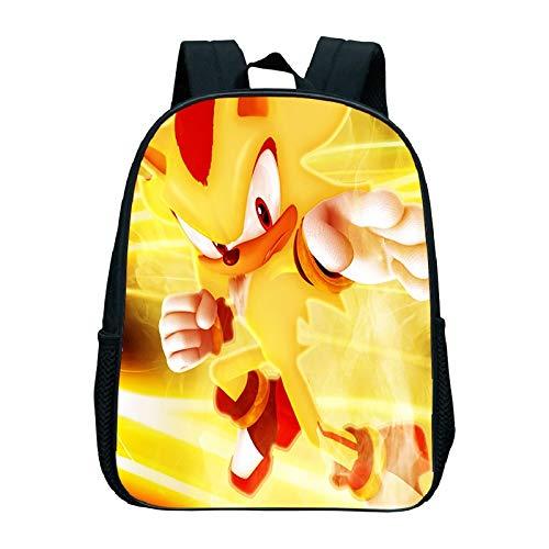 YUNXING Sonic el Erizo Mochila Bolsa de jardín de Infantes Sonic, Mochila Escolar para niñas y niños, Bolsa de Dibujos Animados, Accesorio de Moda, Mochila sónica, Mochilas, Mochilas para niños