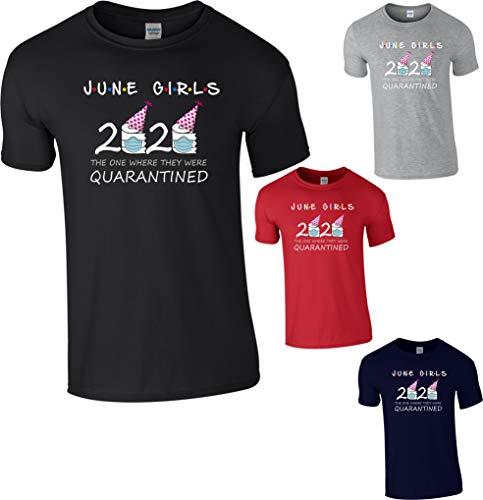 StitchPrint June Girls Friends Birthday 2020, maglietta con isolamento in quarantena, regalo unisex per bambini e adulti Marina Militare L