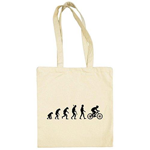 Diver Bebé Bolsa de tela Cyclist Evolution la evolución del ciclista ciclismo bicicleta bici - Beige, 38 x 42 cm