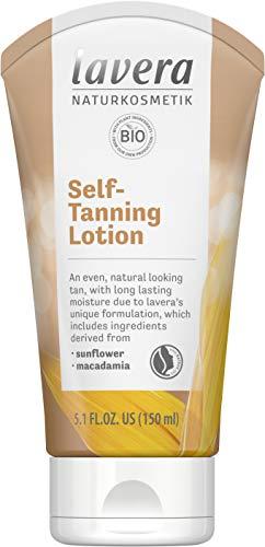 Lavera Organic Self Tanning Body Lotion, Fast-Acting and Streak-Free - Natural Looking Tan (150ml/5oz)