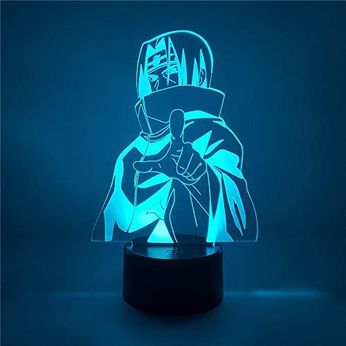 Usb Deko Schreibtisch Tischlampe, 3D Optische Illusionslampe, Usb Nachtlicht, 7 Farb Touch, Mit Fernbedienung, Dimmbaren Funktionen, Für Halloween Geschenke und Weihnachtsgeschenke - Charakter