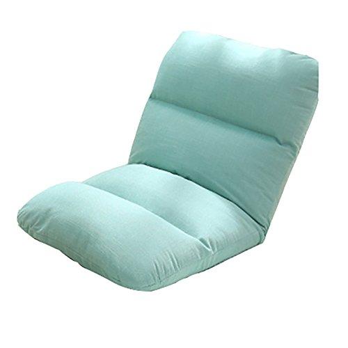 L-R-S-F Simple canapé paresseux pliable dortoir lit ordinateur chaise chambre dossier chaise lin canapé (Couleur : Mint Green)