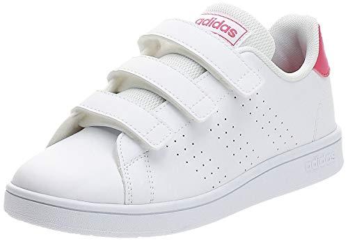 Adidas Advantage C, Zapatillas de Tenis Unisex niño, Blanco (Ftwbla/Rosrea/Ftwbla 000), 29 EU