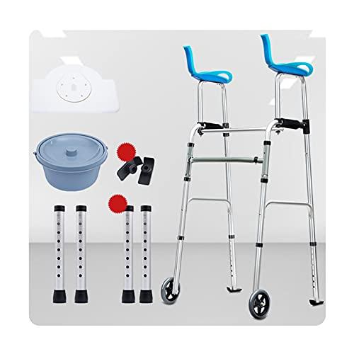 andadores Chunlan Rollator para Ancianos Estrecho Aluminio Vertical Ligero Plegable Regulable En Altura para Entrenamiento De RehabilitacióN para Personas Mayores Discapacitadas