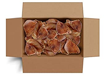 Canine Butcher Shop Raised & Made in USA Large Pig Ears for Dogs 30-Pack - Whole All-Natural Dog Chew/Treat