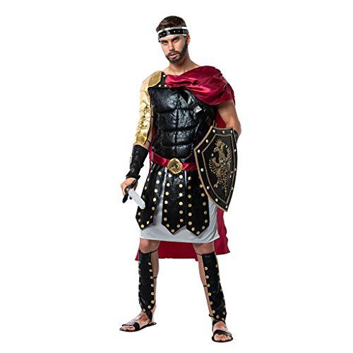 EraSpooky Disfraz de Gladiador Romano Disfraces Capa Fiesta de Halloween Traje Divertido Disfrazarse para Hombres Adultos