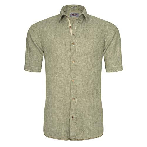 Signum - Rugged Kurzarmhemd aus irischem Leinen