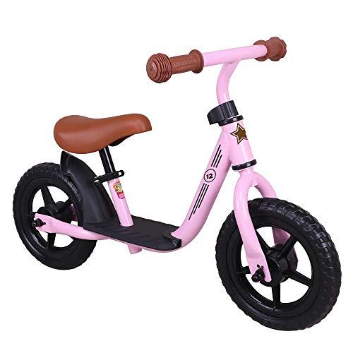 DKZK Bicicleta Equilibrio Liviana Bicicleta Entrenamiento para NiñOs con Manillar Asiento Ajustable En Altura NeumáTicos EVA Sin Inflado Bicicleta para Caminar Sin Pedales